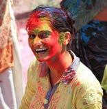 Holi festival Arkivfoton