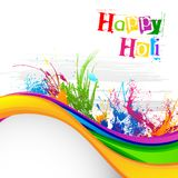 Holi Festival Background Design Stock Images