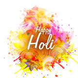 Holi Festival celebration with colourful splash. Stock Image
