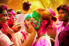 Holi festival celebrations in India royalty free stock images
