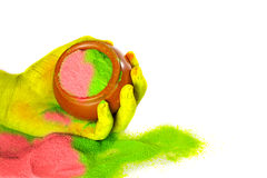 Holi. Festival of color - Hindu festival Royalty Free Stock Photo
