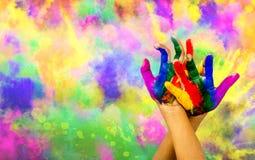 Holi. Festival of color - Hindu festival Royalty Free Stock Image
