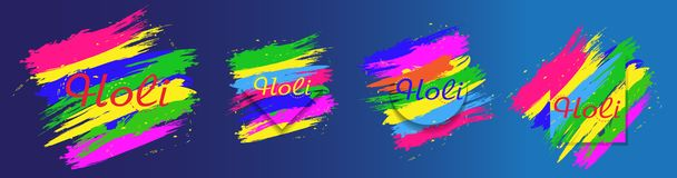 Holi festival colorful abstract background. Set elements for design. Vector. Illustration royalty free illustration