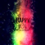 Holi festival colorful powder dust background. Vector Stock Photos