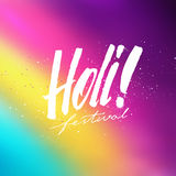 Holi festival colorful vector background Stock Images