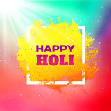 Holi festival colorful vector background Stock Photos