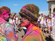 Holi Festival of Colors in Provo, Utah - Portrait royalty free stock images
