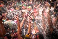 Holi Festival of Colors in Kuala Lumpur, Malaysia Royalty Free Stock Photo