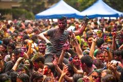 Holi Festival of Colors in Kuala Lumpur, Malaysia Royalty Free Stock Image