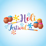 Holi festival of colors. Splash color on white background Royalty Free Stock Photography