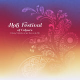 Holi festival of colours background. Happy holi festival greeting card design with Mandala decoration. Vector illustration Royalty Free Stock Photos