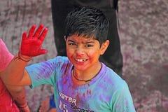 HOLI FESTIVAL. FESTIVAL OF COLOURS INDIAN FESTIVAL HOLI Stock Photo
