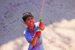 HOLI FESTIVAL. FESTIVAL OF COLOURS INDIAN FESTIVAL HOLI Stock Photos
