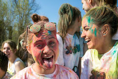 Holi festival of colours, Russia Stock Photography