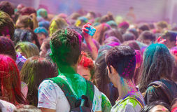 Holi festival. The Holi is a fun-filled festival where you get dirty with colored powders, just for fun. From religious festivities, it has become a joyous stock photo