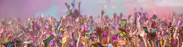 Holi festival. The Holi is a fun-filled festival where you get dirty with colored powders, just for fun. From religious festivities, it has become a joyous royalty free stock images