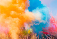 Holi festival. The Holi is a fun-filled festival where you get dirty with colored powders, just for fun. From religious festivities, it has become a joyous royalty free stock photos