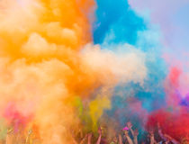 Holi festival. The Holi is a fun-filled festival where you get dirty with colored powders, just for fun. From religious festivities, it has become a joyous stock image