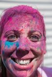 Holi festival. The Holi is a fun-filled festival where you get dirty with colored powders, just for fun. From religious festivities, it has become a joyous stock images