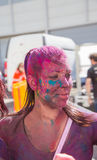 Holi festival. The Holi is a fun-filled festival where you get dirty with colored powders, just for fun. From religious festivities, it has become a joyous royalty free stock photography
