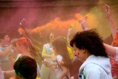 Holi festival i Ryssland royaltyfria foton