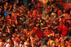 Holi Festival in Indien Stockfotografie