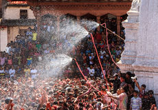 Holi Festival 2013, Kathmandu, Nepal Royalty Free Stock Photography