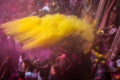 Holi Festival. In Mathura Stock Image