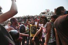 Holi-Festival in Nepal Stockfotografie