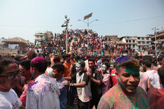 Holi Festival  in Nepal Royalty Free Stock Photo