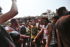 Holi Festival  in Nepal Stock Photography