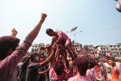 Holi Festival  in Nepal Royalty Free Stock Image