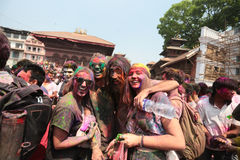 Holi Festival  in Nepal Royalty Free Stock Photography