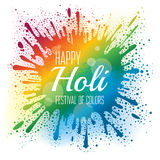 Holi festival poster Royalty Free Stock Photography