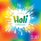 Holi festival poster Stock Photography