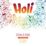 Holi festival poster Stock Image