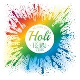 Holi festival poster Stock Photo