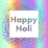 Holi-Festival-Quadratfahne Stockfotografie