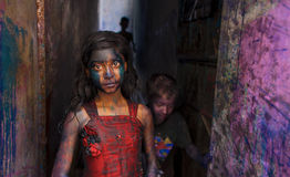Holi Festival. Traditional Holi Festival in Puran Dhaka Royalty Free Stock Images