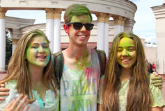 Holi Festival von Farben Lizenzfreies Stockbild