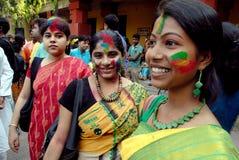 Holi Festival von Westbengal Indien Stockfotografie