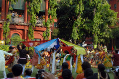 Holi Festival of West Bengal India Royalty Free Stock Photos