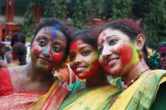 Holi Festival of West Bengal India Royalty Free Stock Photography