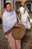 Holi Festival zu den Manipuri Leuten Stockbild