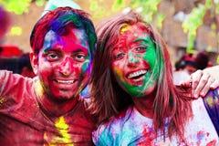 Holi-Festivalfeiern in Indien Stockfotos