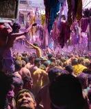 Holi festivalparti Arkivbild