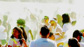 Holi festivalultrarapid lager videofilmer