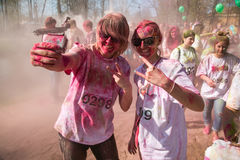 Holi festiwal colours, Rosja zdjęcie stock