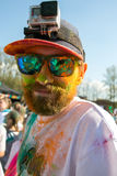 Holi festiwal colours, Rosja Fotografia Stock