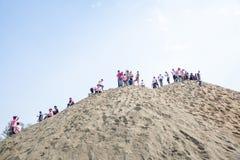 Holi festiwal koloru świętowanie w Tundikhel Kathmandu Nepal obraz stock